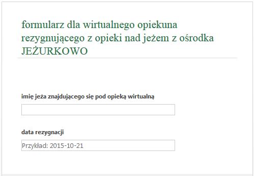 formularz rezygnacji z opieki wirtualnej